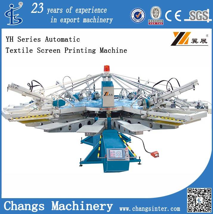 YH Series Automatic Textile Screen Printing Machine for T-shirt