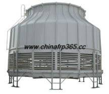 round adverse flow cooling tower