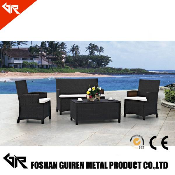 New design rattan sofa without backrest indoor rattan sectional rattan outdoor sofa set