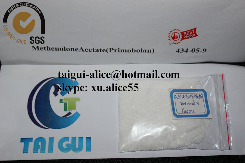 Muscle Growth Methenolone Acetate Primonolan for Oral Steroid Drug CAS 434-05-9