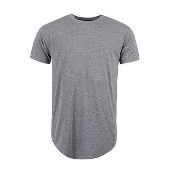 Mens Customizable Longline Tshirts Men Round Longline T Shirt