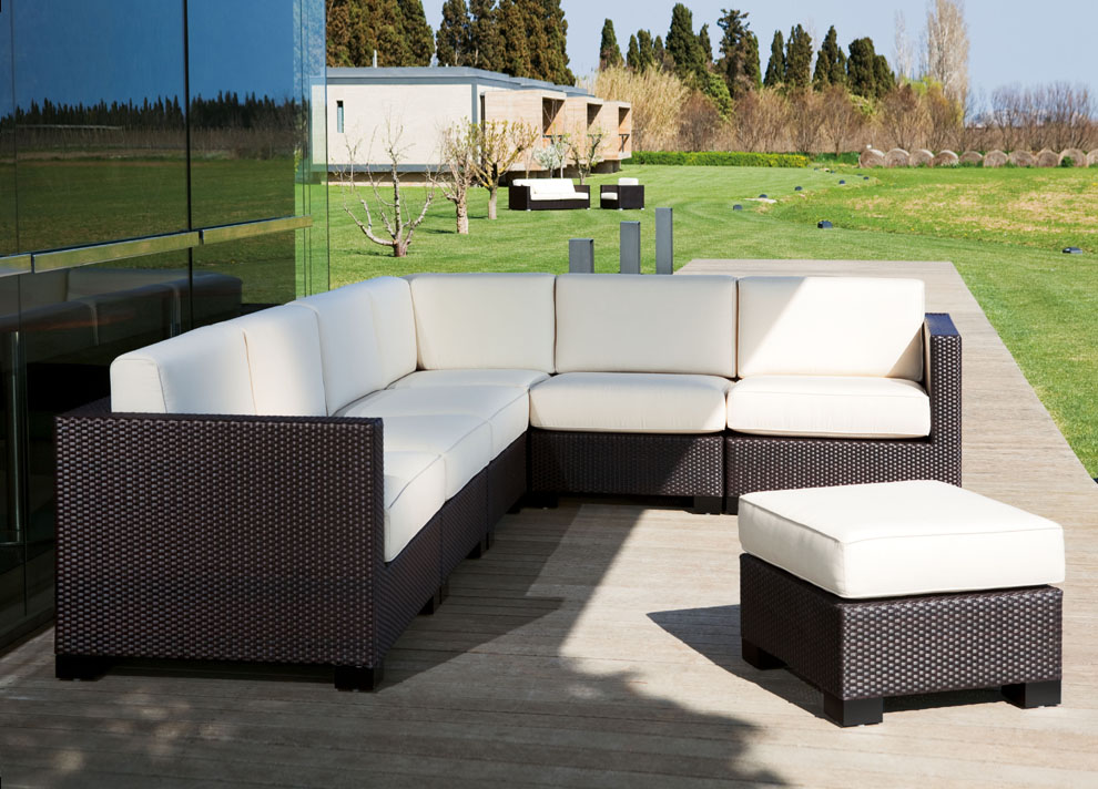 Outdoor Sofa Set Rattan, With Cushions Garden Furniture Outdoor.