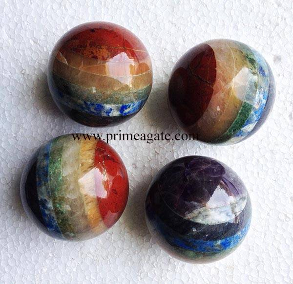 Gemstone Chakra Bonded Balls