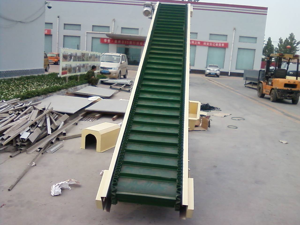 Food industry Inclined skirt rubber belt conveyor
