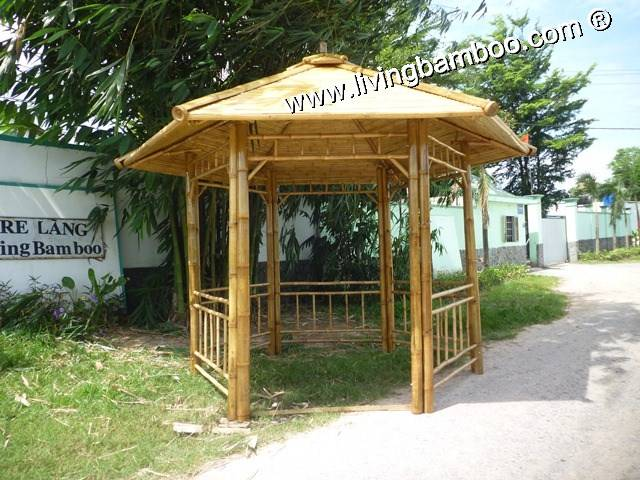 BAMBOO GAZEBO CANA WITH BAMBOO ROOF