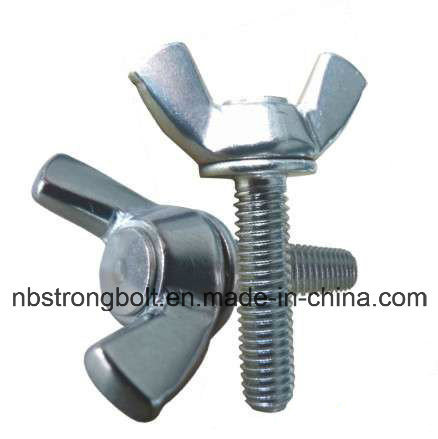DIN316 Wing Screw with White Zinc Plated Cr3+ Carbon Steel / Stainless Steel