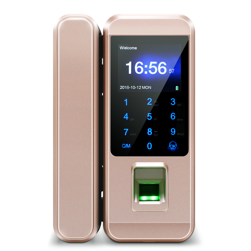 GK8801 Glass Door Lock,Smart Fingerprint Digital Lock With Time