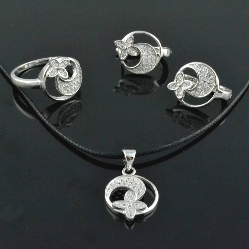 2013 Newest 925 Silver Fashion Jewelry Sets Silver Rings Silver Pendant