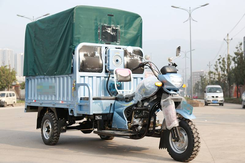 new three wheeled cargo tricycle with canvas cover