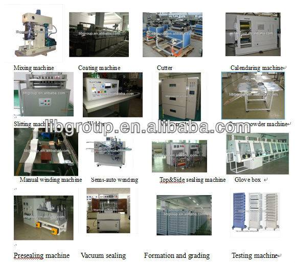 lithium battery materials, equipments, technolgy and production line