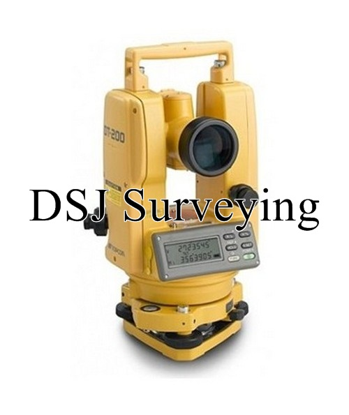 "Topcon DT-205L 5"" Waterproof Digital Theodolites with Laser Pointer"
