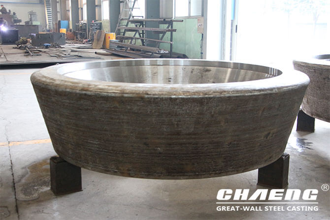 Steel casting veritcal mill roller tyre