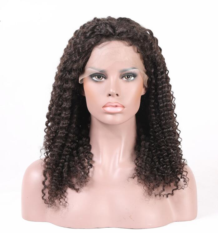 Curly Brazilian Human Hair, Lace Front Wig