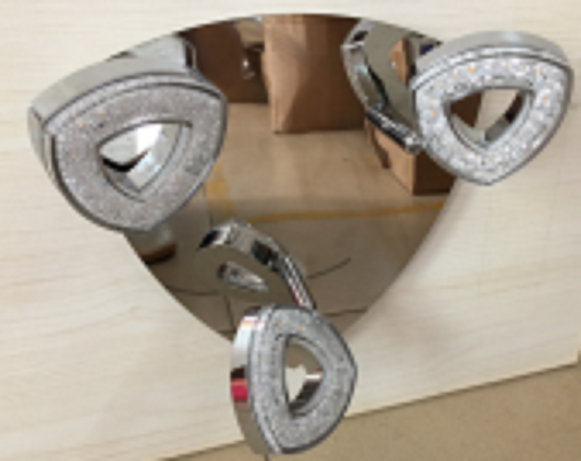 3HEAD IRON CHROME LED CEILING LIGHT-C70933