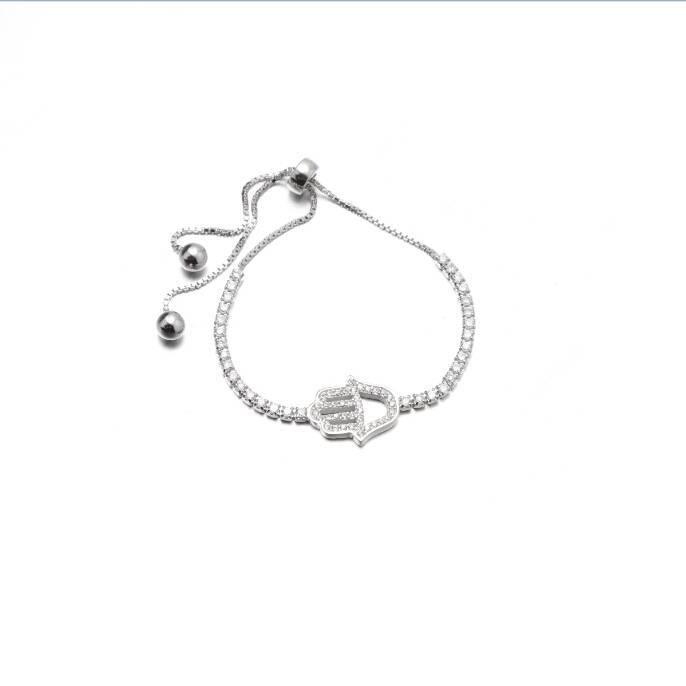 Hamsa Hand 925 Silver Tennis Bracelet Wholesale