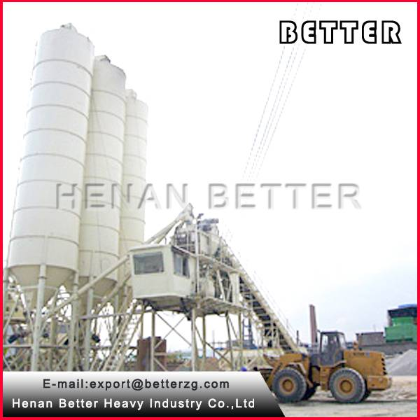 HZS60 stationary automatic concrete batching plant with high quality