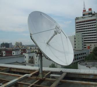 TDT 3.0m satellite communication dish antenna ku-band with 2-port feed