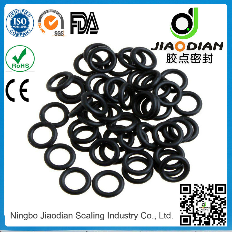 Black NBR O Rings for Mechanical Sealing with SGS RoHS FDA Certificates As568-JIS2401-ISO3601 (O-RIN