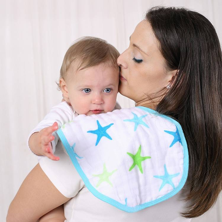 LAT Pre-washed 100% Cotton Muslin Burp Bibs