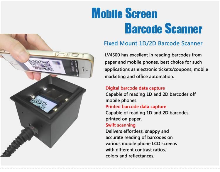 NEW LV4500 Supermarket 2D Price Bar code Reader, 10 mil Resolution, RS232/USB Interface