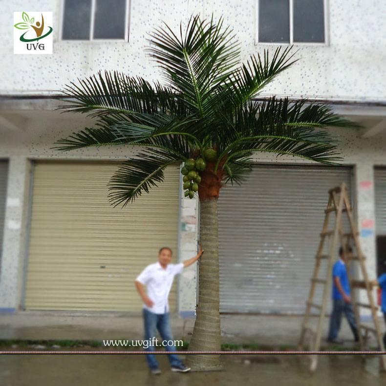 UVG PTR002 20ft tall artificial palm tree in big trunk for garden decoration and wedding favor