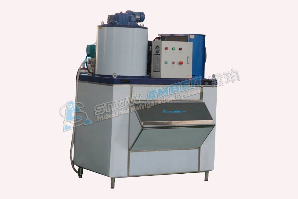 Commercial Fish Processing Flake Ice Machine Manufacturer 500KG/day