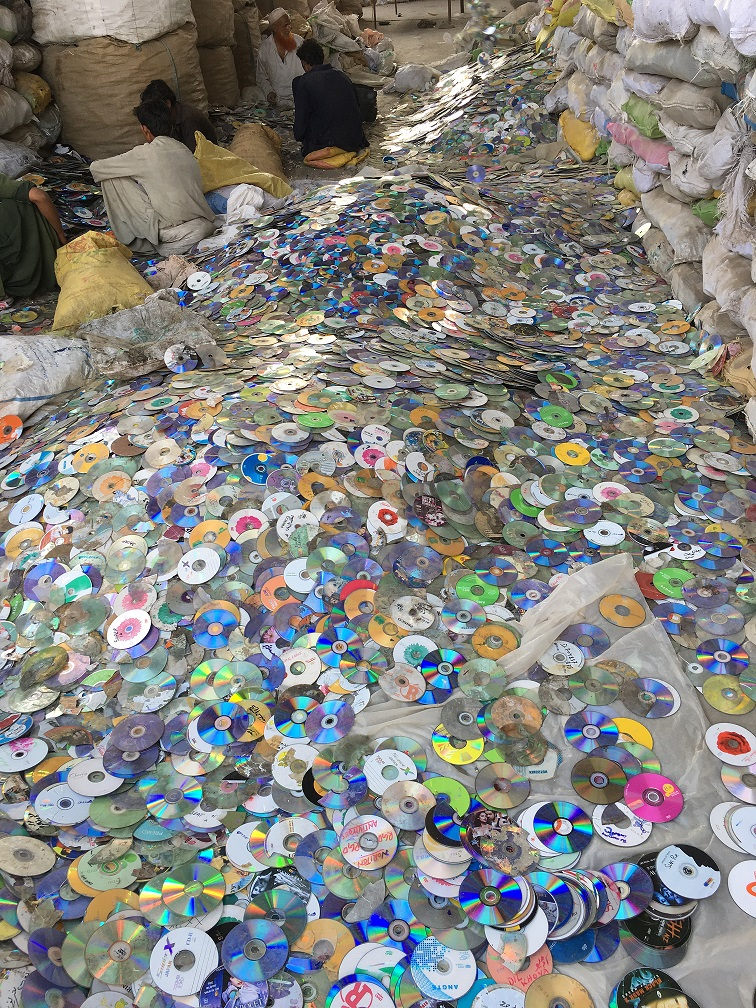 PC Cd/Dvds Metalised Scrap