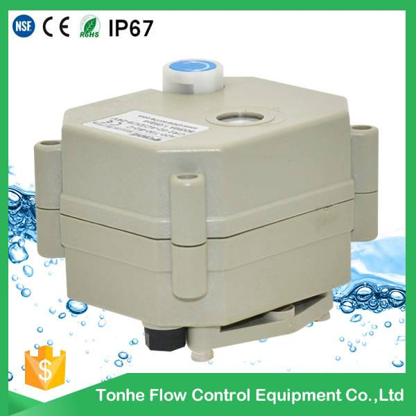 5V Electric actuated actuator valve with manual override for motorized valve A20-T-B