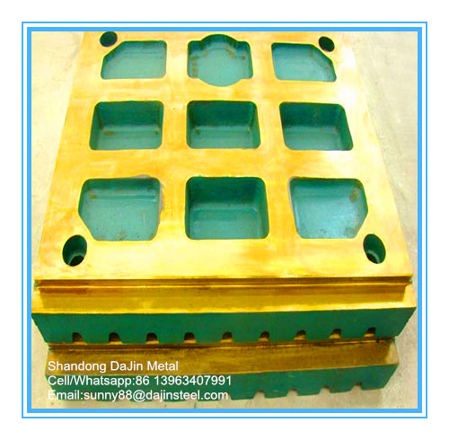 Jaw crusher plate for mining equipment/jaw plate
