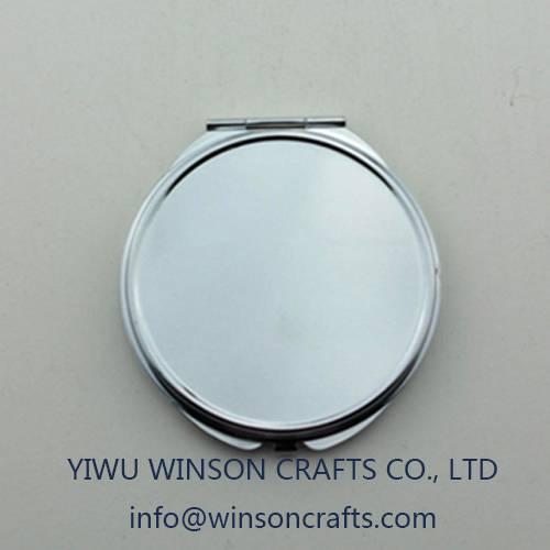 Souvenir round pocekt mirror folding compact mirror