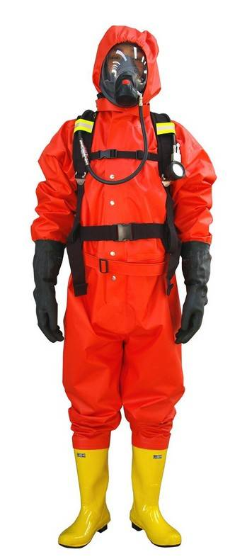 High Quality Light Type Fire Chemical Protective Clothing Siamese Semi Closed Protective Clothing An
