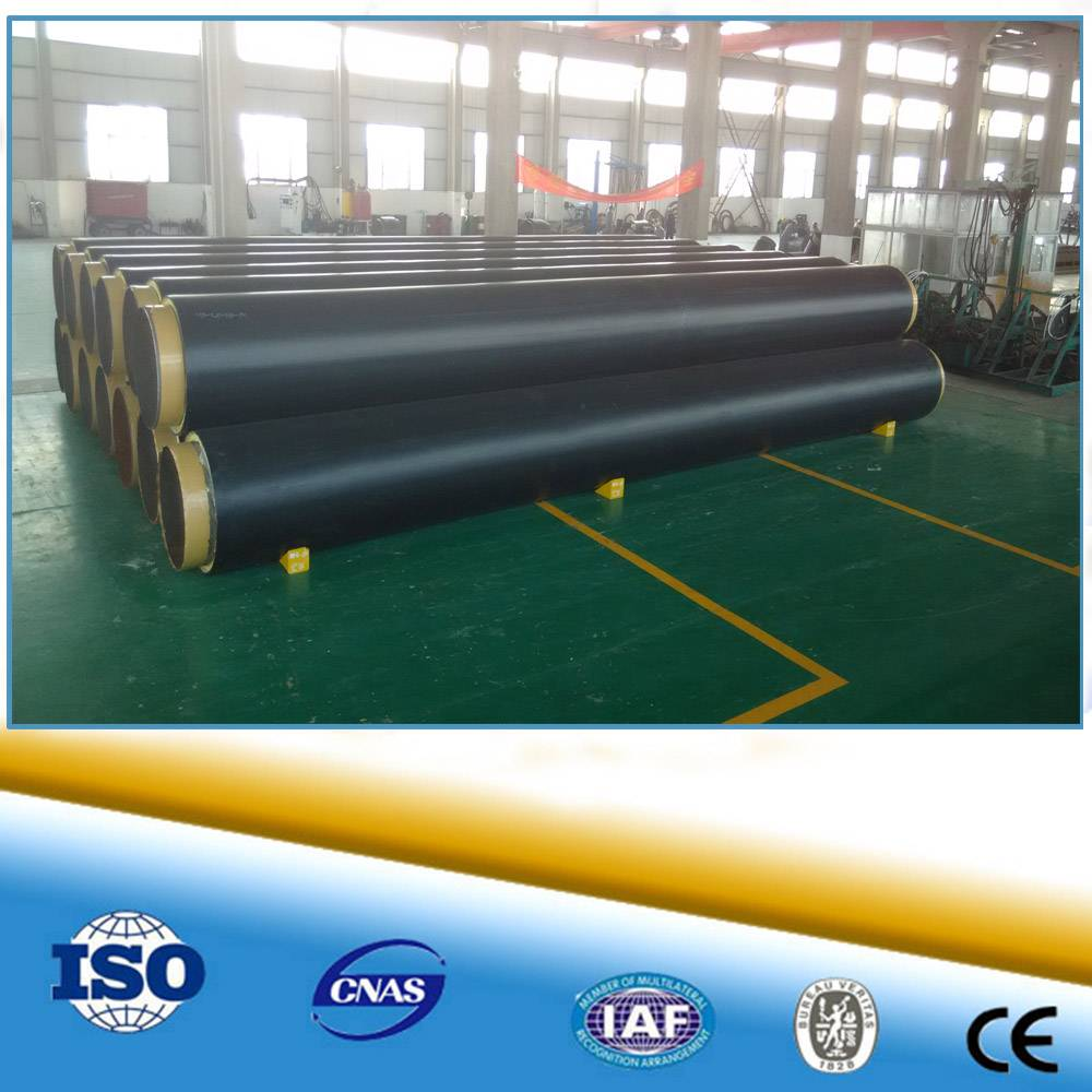 HDPE Coated Polyurethane Foam Filled Polyurethane Pre-fabricated Insulation Pipe For Hot And Chilled