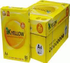 IK Yellow A4 Copy Paper 80gsm/75gsm/70gsm