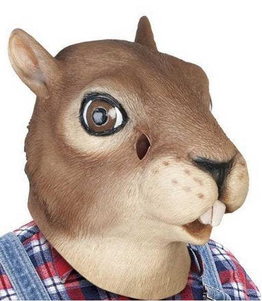 Youtumall Latex Squirrel Adult Costume Animal Mask