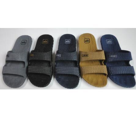 2017 wholesale PVC customer slide sandals men slippers