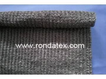 Flame resistant metal alloy fiber fabric for burner