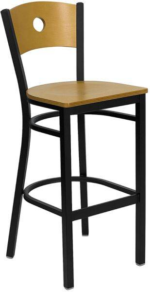 The circled back metal barstool bar furniture bar chair