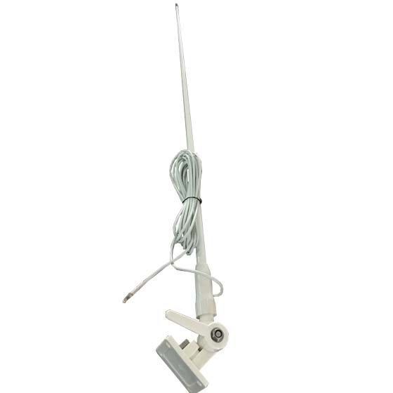 marine VHF antenna 156-163MHZ, 1.12m, with 7m Cable and Fix support for yacht