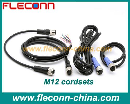 M12 Sensor Cable and Cordset Assemblies with 3 4 5 6 8 12 PIN