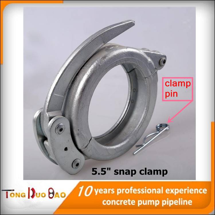 5.5 inch snap clamp for coupling pipes