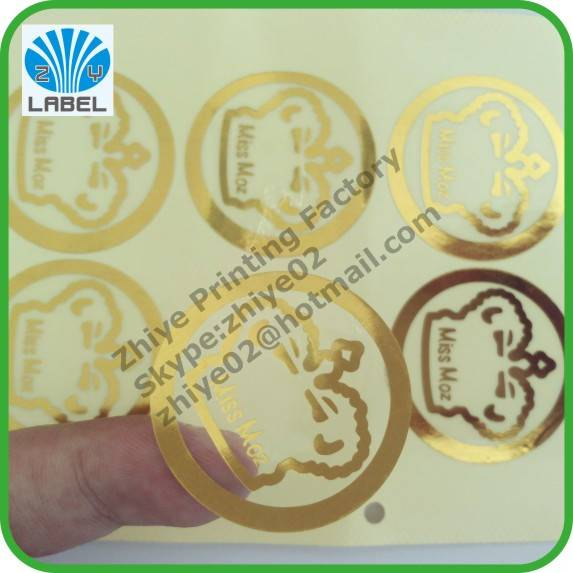Manufacture costom permanent adhesive transparent labels,clear labels