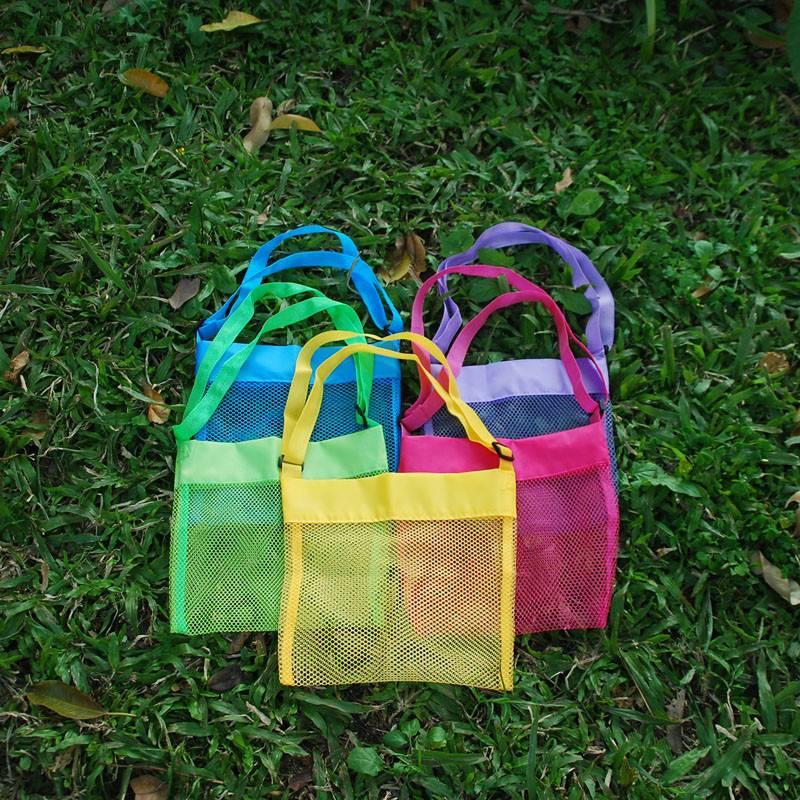 Kids Personaliation Mesh Seashell Beach Bags