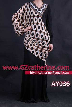 Latest Elegant Black Jersey Burqa Long Kaftan