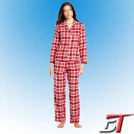 Flannel sleepwear set