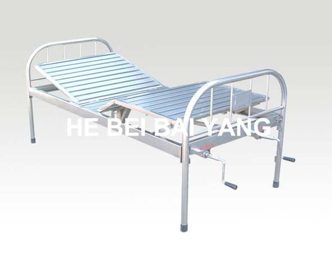 A-122 All Stainless Steel Double-function Manual Hospital Bed