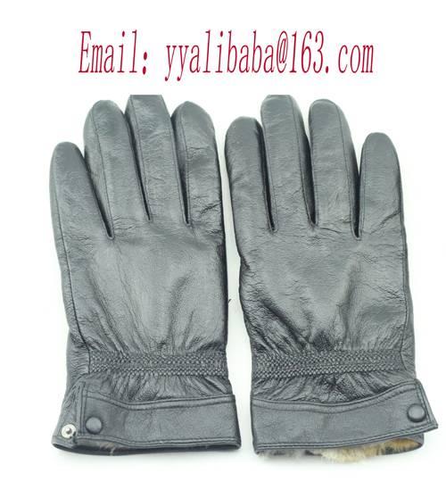 leather glove fur glove