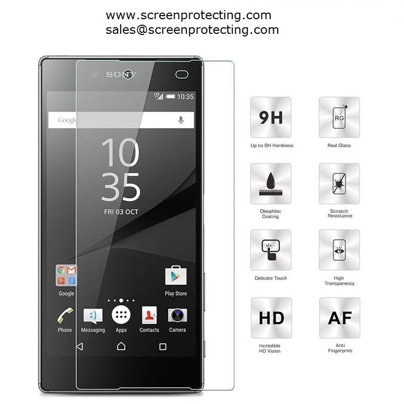 Screen Guard 2.5D Screen Shield 9H Premium Tempered Glass Screen Protector for SONY Xperia Z5