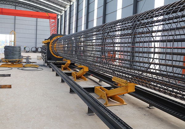 Steel rebar welded pile cage making machine manufacture LYGH-3000