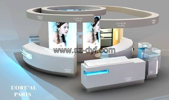 cosmetics display showcase/kiosk/stand