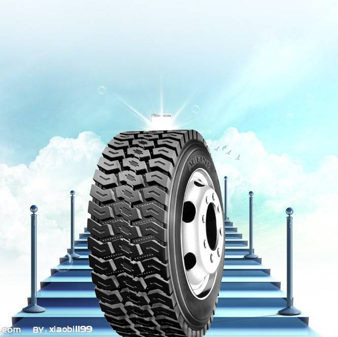 Tire for Steering Trailer Traction Wheels